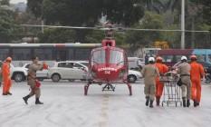 Simulação do Corpo de Bombeiros Foto: Márcio Alves / Agência O Globo