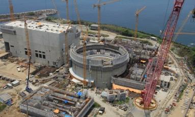Obras da usina nuclear Angra 3 Foto: Divulgação