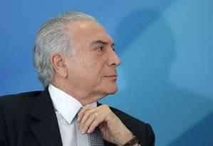 Presidente Michel Temer Foto: Eraldo Peres / AP