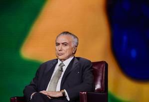Michel Temer, presidente Foto: Christopher Goodney / Bloomberg