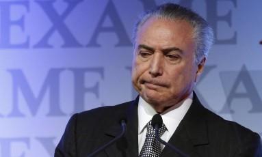 O Presidente da República Michel Temer Foto: Edilson Dantas/Agência O Globo