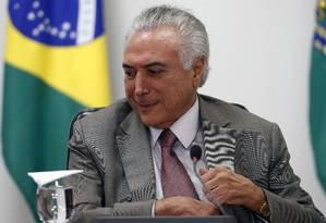 O presidente Michel Temer Foto: Jorge William/Agência O Globo