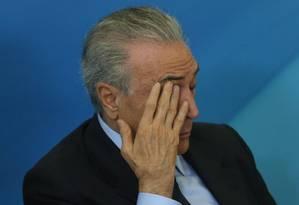 O presidente Michel Temer Foto: ANDRE COELHO/Agência O Globo