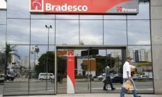 Agência do Bradesco em São Paulo Foto: Paulo Fridman / Bloomberg