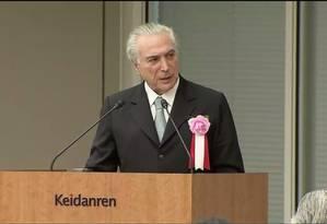 Presidente almoçou com lideranças empresariais japonesas e investidores dos dois países Foto: Reprodução