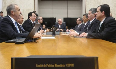 Reunião do Copom com presidente do Banco Central, Ilan Goldfajn Foto: André Coelho/Agência O Globo