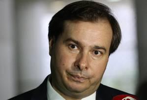 O presidente da Câmara, Rodrigo Maia (DEM-RJ) Foto: Ailton de Freitas/Agência O Globo