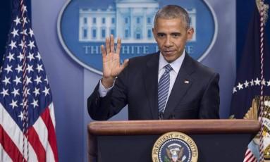Presidente dos Estados Unidos, Barack Obama, quer que Inteligência americana analise intervenção estrangeira durante as eleições Foto: Saul Loeb / AFP