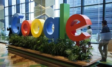 Letreiro da Google Foto: Ore Huiying / Bloomberg