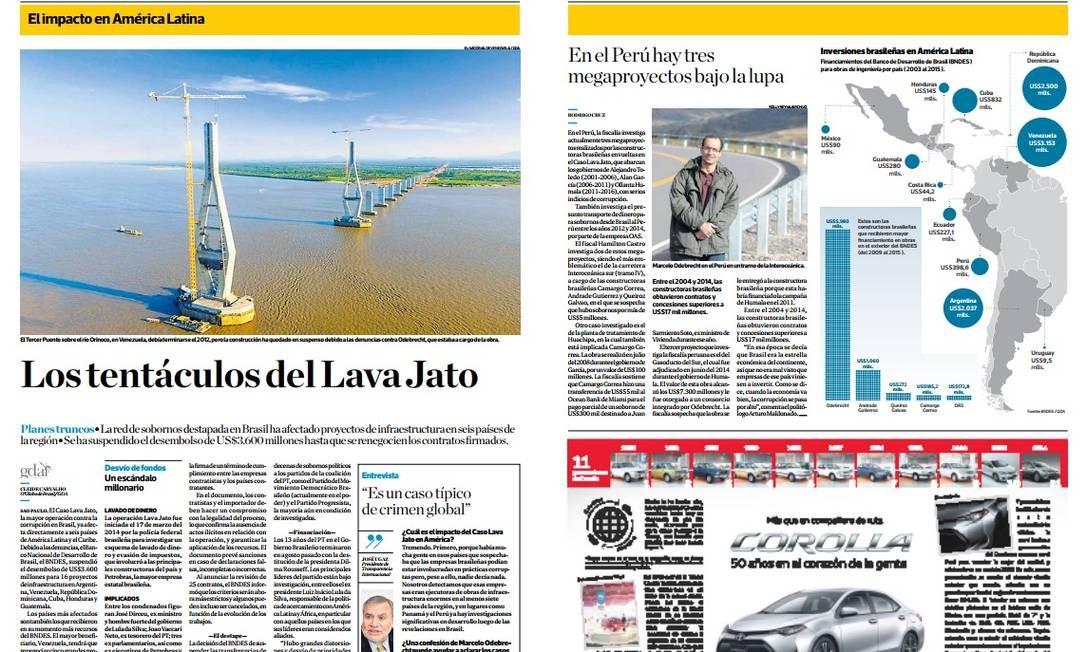 Jornal 'El Comércio', Peru Foto: Reprodução