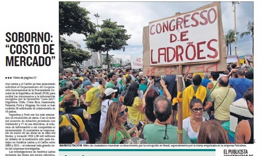 'El País', Uruguai Foto: Reprodução
