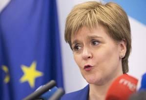 Nicola Sturgeon, primeira-ministra da Escócia Foto: Geoffroy Van der Hasselt / AP