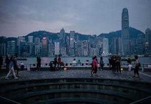 Distrito de Tsim Sha Tsui, em Hong Kong Foto: Anthony Kwan / Bloomberg