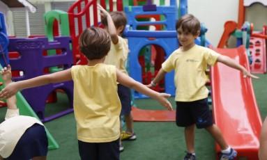 Alunos da pré-escola Foto: Bárbara Lopes / Agência O Globo
