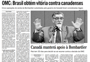 Reprodução de reportagem do jornal O Globo de 2002 Foto: Agência O Globo