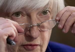 A presidente do Federal Reserve, Janet Yellen Foto: Andrew Harnik / AP