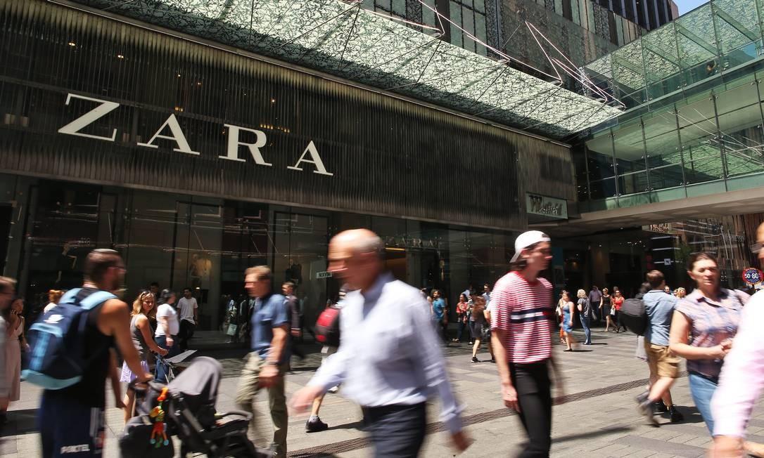 Loja da Zara em Sydney, Austrália Foto: Brendon Thorne / Bloomberg