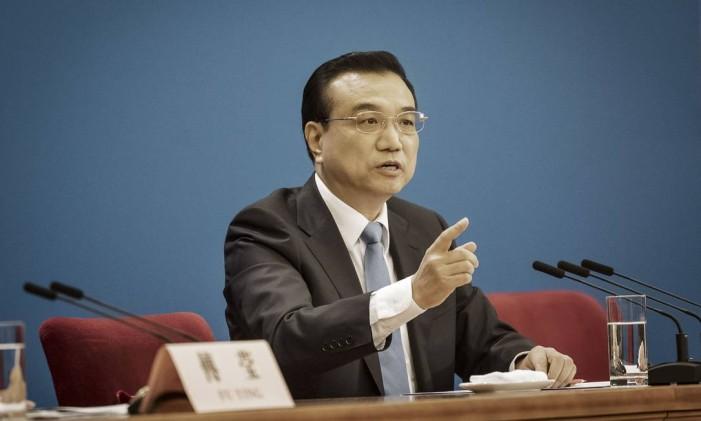 Li Keqiang, premier da China Foto: Qilai Shen / Bloomberg