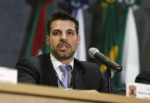 O delegado da Polícia Federal, Maurício Moscardi Grillo Foto: Rodolfo Buhrer/La Imagem/Fotoarena / Agência O Globo
