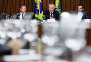 Michel Temer fez reunião com Embaixadores dos maiores mercados importadores de carne do Brasil. Foto: Beto Barata / Divulgação