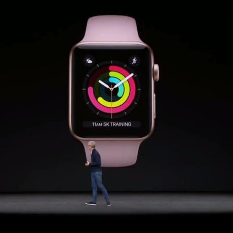 Novo relógio da Apple é anunciado em evento da empresa Foto: Reprodução