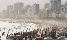 Horario de verão, cinco da tarde no Arpoador, Rio de Janeiro Foto: Daniela Dacorso:Daniela Hallack Dacorso / Agência O Globo