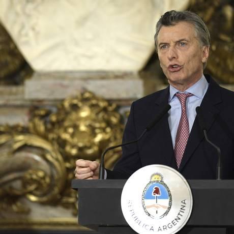 Presidente argentino Maurício Macri Foto: JUAN MABROMATA / AFP
