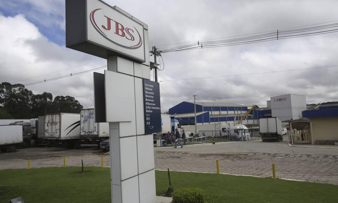 Fábrica da JBS no Paraná. Foto: Eraldo Peres / AP