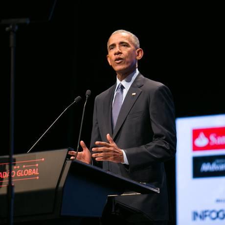 Barack Obama participou do Fórum Cidadão Global a convite do jornal Valor Econômico Foto: Ricardo Cardoso