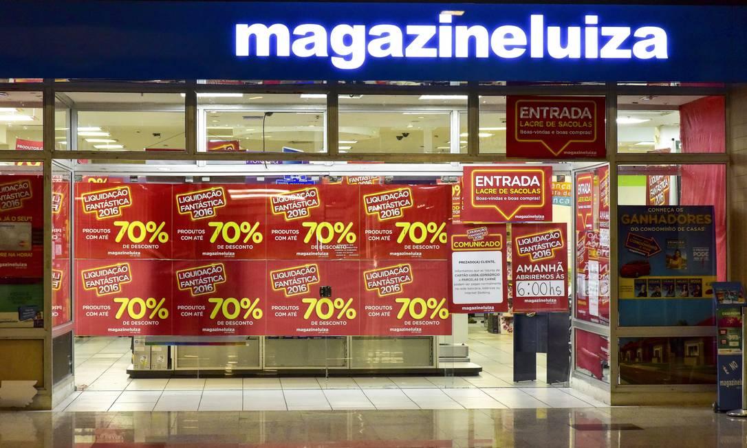 Loja do Magazine Luiza do Shopping Vale Sul, em São Paulo Foto: Lucas Lacaz Ruiz / Agência O Globo