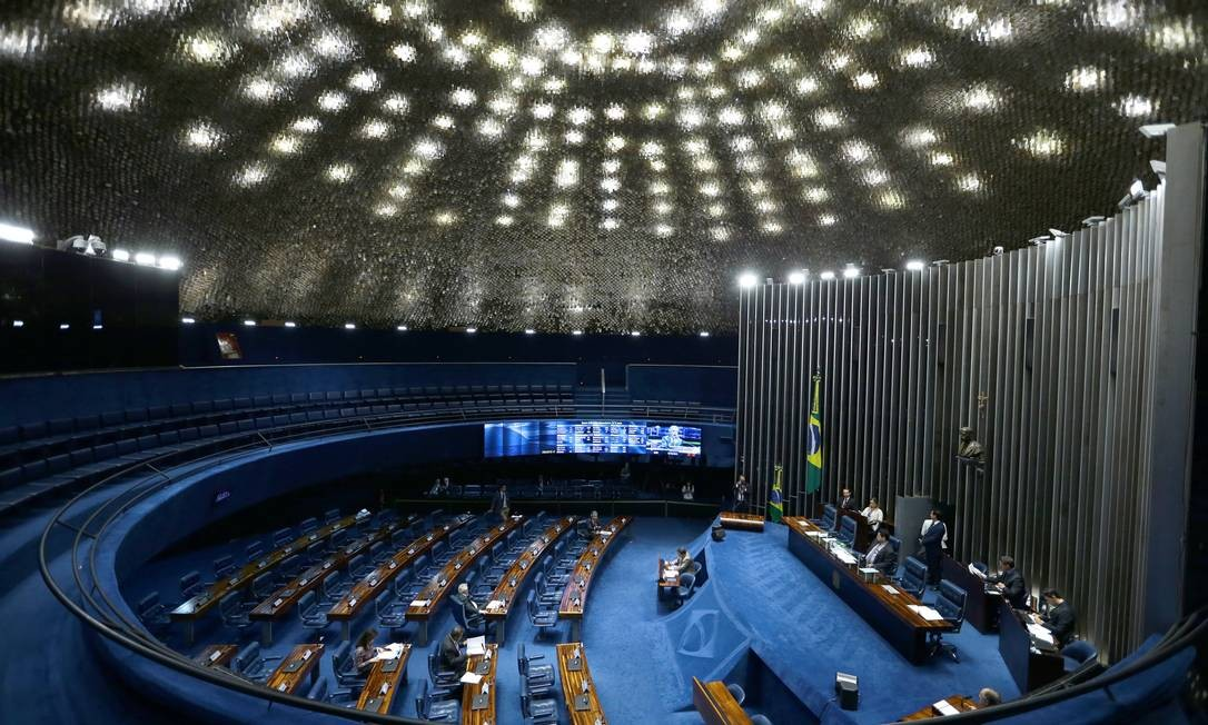 Sessão não deliberativa no plenário do Senado Federal Foto: Jorge William / Agência O Globo