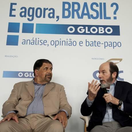 Seminário E Agora Brasil? com Arminio Fraga e Antonio Correa de Lacerda. Foto: Agência O Globo