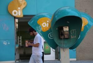 Agência da Oi na Rua do Lavradio 71, Centro. Foto: Custódio Coimbra / Agência O Globo