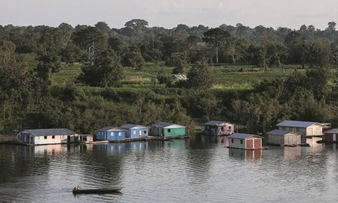 Integração. Comunidade de ribeirinhos na Amazônia que são parceiros da Natura Foto: Divulgação