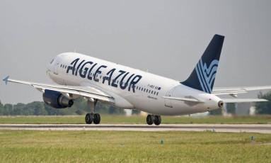 Avião da Aigle Azur, empresa que agora tem 32% das ações nas mãos de David Neeleman, dono da Azul. Foto: Divulgação