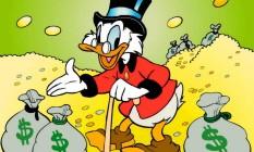 Tio Patinhas e seus sacos de dinheiro Foto: Reprodução