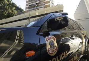 Carro da Polícia Federal. Foto: Gabriel de Paiva / Agência O Globo