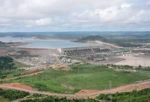 Vista aérea da usina de Belo Monte Foto: Agência O Globo