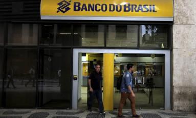Agência do Banco do Brasil no Centro do Rio. Foto: Domingos Peixoto / Agência O Globo