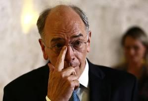 Entrevista do presidente da Petrobras, Pedro Parente Foto: Jorge William / Agência O Globo