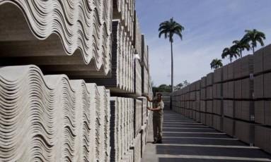 Fábrica de amianto da Eternit Foto: Agência O Globo