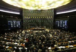 Sessão do Congresso Nacional Foto: Ailton de Freitas / Agência O Globo