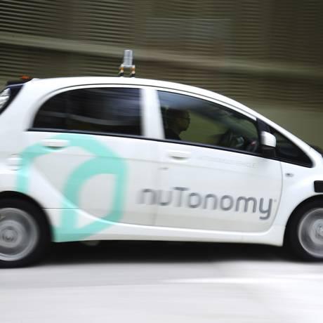 Veículo autônomo da nuTonomy autonomous. Lyft vai testar os carros autônomos em locais específicos de Boston, nos EUA Foto: Yong Teck Lim / AP