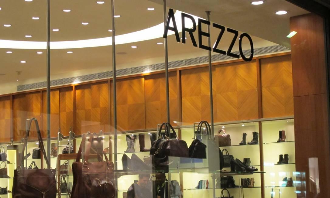 Fachada da Arezzo no Centro do Rio Foto: Carolina Oliveira Castro / Agência O Globo