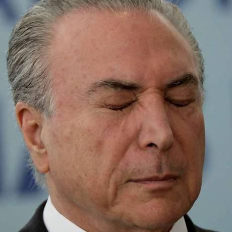 Presidente Temer ainda busca votos para aprovação da reforma da Previdência Foto: Agência O Globo