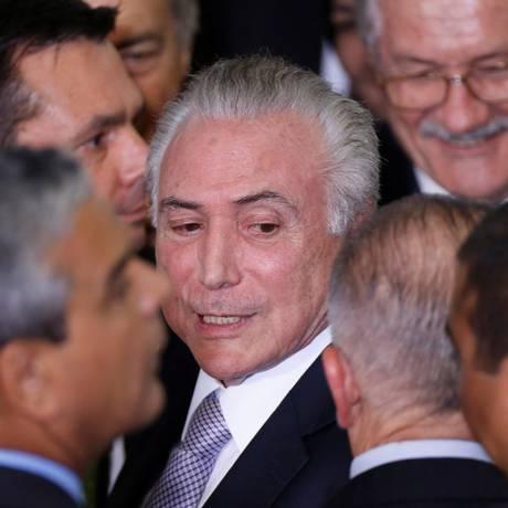 Presidente Michel Temer em cerimônia no Palácio do Planalto, em Brasília Foto: ADRIANO MACHADO / REUTERS