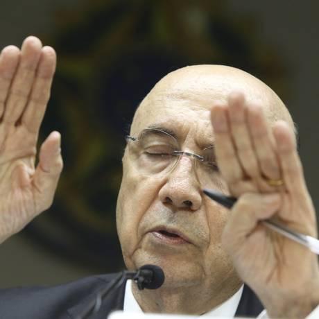 O ministro Henrique Meirelles em coletiva. Foto: Ailton de Freitas / Agência O Globo