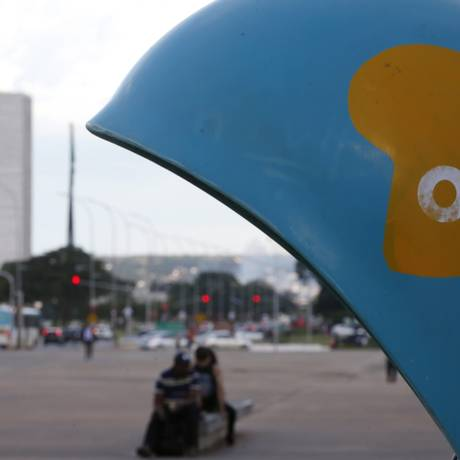 Oi conseguiu aprovação de plano de recuperação judicial. Na foto, aparelho na Esplanada dos Ministérios. Foto: Michel Filho / Agência O Globo