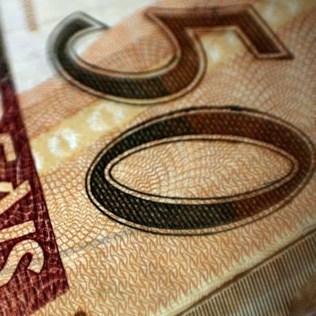 Detalhe da nota de R$ 50 Foto: Dado Galdieri / Bloomberg
