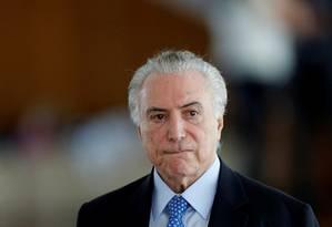 Presidente Michel Temer Foto: ADRIANO MACHADO / Reuters